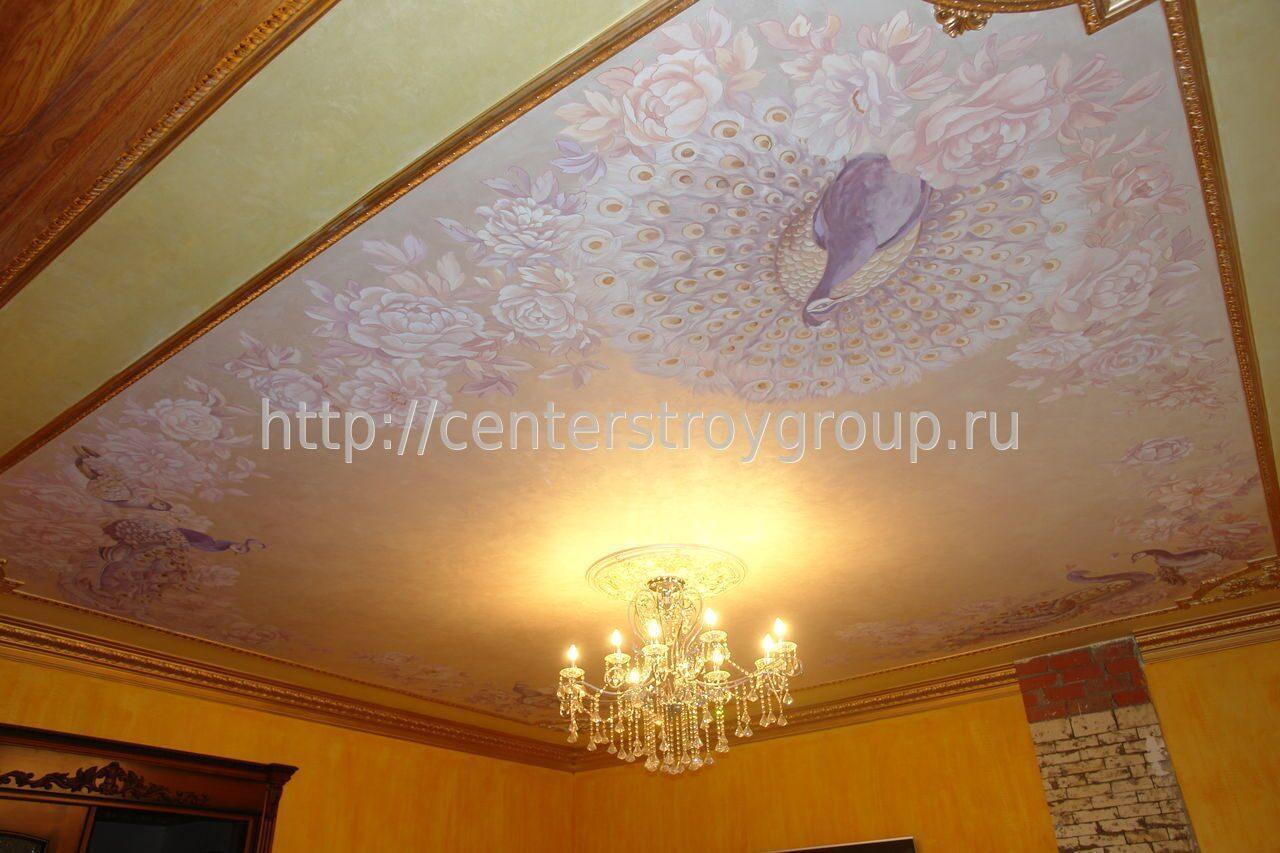 Как расписать потолок своими руками фото